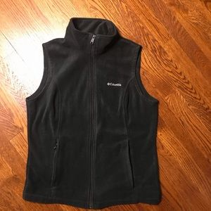 Women's Columbia Black Fleece Vest